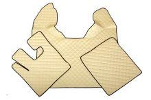 Kožené koberce DAF XF105, manual, béžové