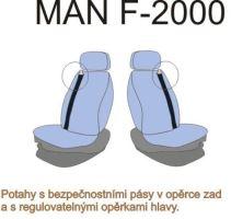 Autopoťahy MAN F2000 / L2000 oba pásy v sedačke, červenej