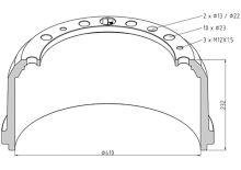 Brzdový buben MAN 410x180 - přední