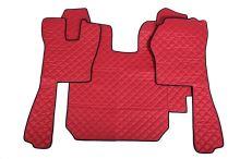 Kožené koberce Scania R do 2010, automat, červené