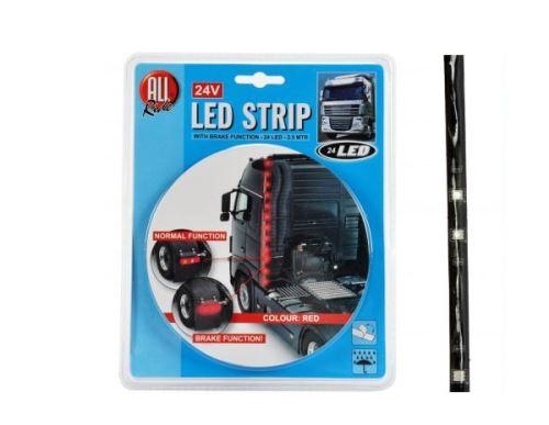 LED svietiace prúžky, červené, samolepiaca