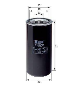 Olejový filtr HENGST H300W02