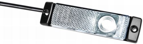 Poziční světlo Hella kruhová LED s odrazkou, bílé 12V