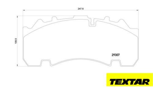 Brzdové destičky TEXTAR 29167 (29307, 29270)