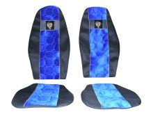 Autopotahy DAF do 2012, řidič pás na sedačce, modré