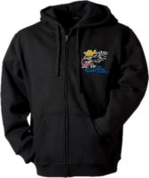 Mikina s kapucňou SCANIA, čierna, dlhý zips, výšivka