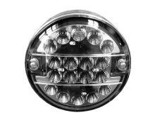 Koncový svetlomet LED, okrúhly, číry