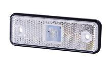 Poziční světlo LED bílé, 31x98 s gumovou podložkou