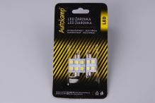 2ks žárovka LED 24V 15W SV 14x36mm čirá