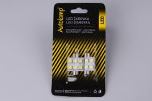2ks žiarovka LED 24V 15W SV 14x36mm číra