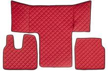 Kožené koberce MAN TGL / TGM /TGS, červené