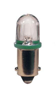 blistr 2ks  LED 12V 4W BA9s zelená