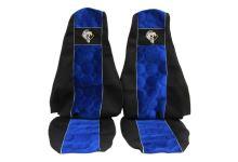 Autopotahy Renault Premium s opěrkou hlavy, modré