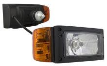 Přední světlomet H4 s blikačem, pravý