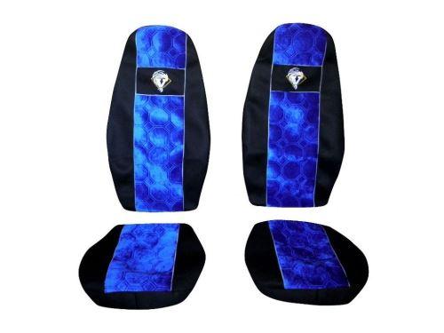 Autopotahy Volvo FH 2008->, pásy na sedačkách, modré