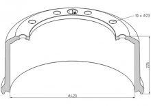 Brzdový buben pro BPW 420x180 Eco-P se svorníky