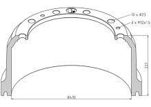 Brzdový buben Mercedes 410x180 - zadní