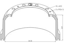 Brzdový bubon Mercedes 410x180 - zadné