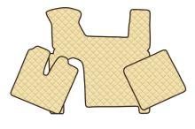 Kožené koberce MAN TGX - manual, 2 šuplíky, béžové