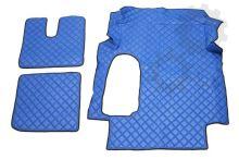 Kožené koberce MAN TGA - široká kabina, modré
