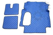 Kožené koberce MAN TGA - široká kabína, modré