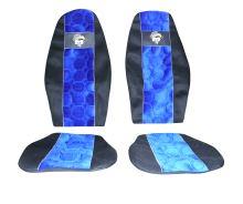 Autopoťahy MAN F2000 / L2000 oba pásy v sedačke, modrej