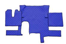 Kožené koberce MAN TGX - automat, 1 šuplík, modré