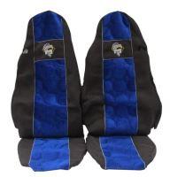 Autopoťahy MAN TGA / TGX oba pásy v sedačke, modrej