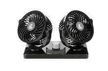 Otočný dvojitý ventilátor do auta 24V