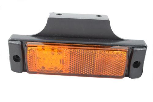 Poziční světlo LED s odrazkou, oranžové, s držákem