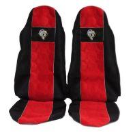 Autopoťahy DAF do 2012, obaja pásy na sedačke, červené
