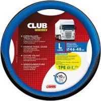 Potah volantu Lampa Club 46-48 cm, černý-modrý