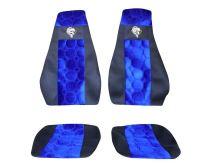 Autopoťahy Scania R, pásy na sedačkách, modrej