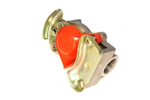 Vzduchová hlavice M22x1,5 červená s pružnou vložkou