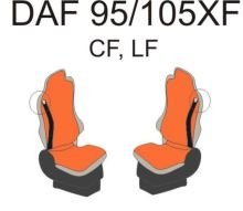 Autopoťahy DAF do 2012, obaja pásy na sedačke, béžovej