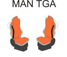 Autopotahy MAN TGA/TGX oba pásy v sedačce, modré