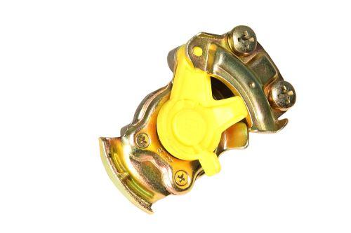 Vzduchová hlavice M16x1,5 žlutá s gumovým těsněním