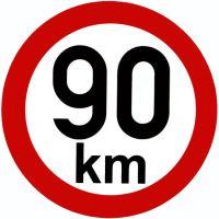 Samolepka - rýchlosť 90km / h