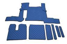 Kožené koberce MAN TGX - manual, 2 šuplíky, modré